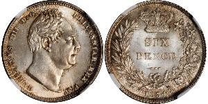 1 Sixpence / 6 Penny United Kingdom of Great Britain and Ireland (1801-1922) Silver William IV (1765-1837)