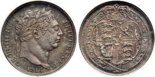 1 Sixpence / 6 Penny United Kingdom of Great Britain and Ireland (1801-1922) Silver George III (1738-1820)