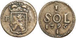 1 Sol Luxemburg Kupfer