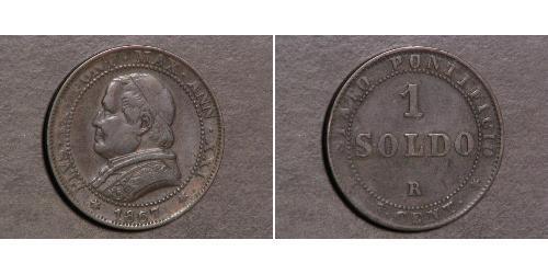 1 Soldo Stato Pontificio (752-1870) Rame Papa Gregorio XVI
