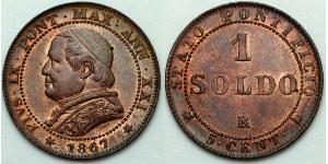 1 Soldo Papal States (752-1870)  Pope Pius IX (1792- 1878)
