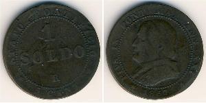 1 Soldo Stato Pontificio (752-1870)  Papa Pio IX (1792- 1878)