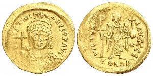 1 Solidus Византийская империя (330-1453) Золото Юстиниан I (482-565)