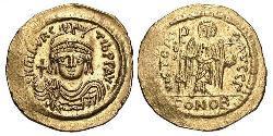 1 Solidus Візантійська імперія (330-1453) Золото Маври́кій (539-602)