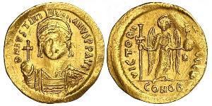 1 Solidus Візантійська імперія (330-1453) Золото Юстиніан I (482-565)