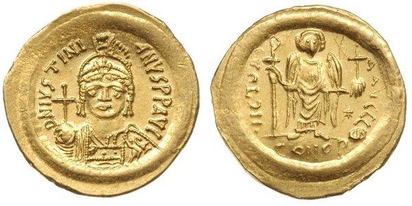 1 Solidus 拜占庭帝国 金 查士丁尼一世