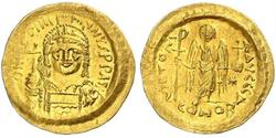 1 Solidus Byzantine Empire (330-1453) Gold Justinian I (482-565)