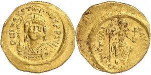 1 Solidus Byzantine Empire (330-1453) Gold Justinian I (482-565)