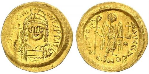 1 Solidus Byzantinisches Reich (330-1453) Gold Justinian I (482-565)