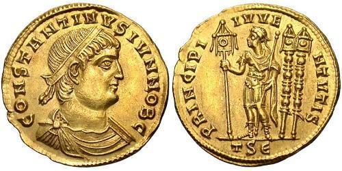 1 Solidus Römische Kaiserzeit (27BC-395) Gold Constantius II(317 - 361)
