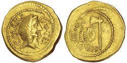 1 Solidus Roman Republic (509BC-27BC) Gold Julius Caesar (100BC- 44 BC)