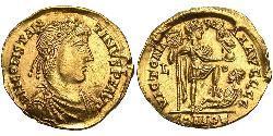 1 Solidus Weströmisches Reich (285-476) Gold Konstantin III  (?-411)