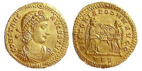 1 Solidus Empire byzantin (330-1453) Or Constant I (320-350)