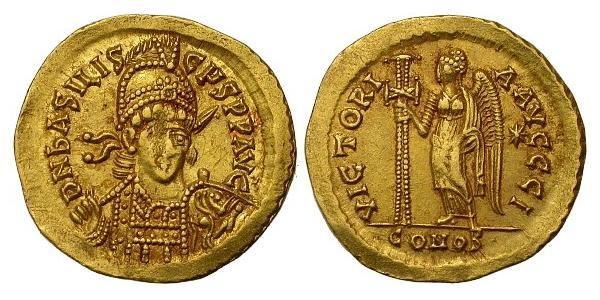 1 Solidus Empire byzantin (330-1453) Or Basiliscus (?-476)