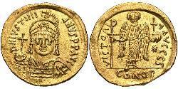 1 Solidus Imperio bizantino (330-1453) Oro Justiniano I (482-565)