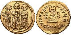 1 Solidus Imperio bizantino (330-1453) Oro Heraclio (575-641)