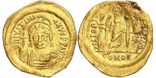 1 Solidus Imperio bizantino (330-1453) Oro