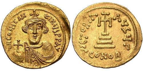 1 Solidus Imperio bizantino (330-1453) Oro Constans II (630-668)