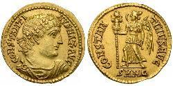 1 Solidus Impero romano (27BC-395) Oro Costantino I (272 - 337)