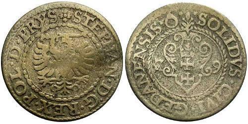 1 Solidus Gdansk  (1454-1793) Silver Stephen Báthory (1533-1586)