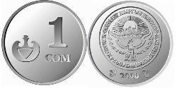 1 Som Kirgisistan (1991 - ) Nickel/Stahl