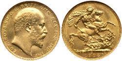1 Sovereign 加拿大 金 爱德华八世 (1894-1972)