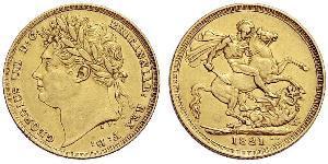 1 Sovereign 大不列颠及爱尔兰联合王国 (1801 - 1922) 金 喬治四世 (1762-1830)