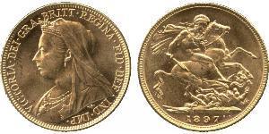 1 Sovereign 大不列颠及爱尔兰联合王国 (1801 - 1922) 金 维多利亚 (英国君主)
