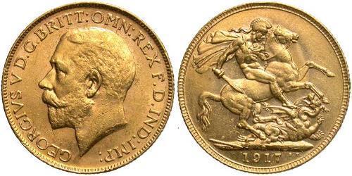 1 Sovereign 澳大利亚 金 乔治五世  (1865-1936)