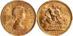 1 Sovereign United Kingdom (1922-) 金 伊丽莎白二世 (1926-)