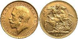 1 Sovereign Australia (1788 - 1939) Gold George V of the United Kingdom (1865-1936)