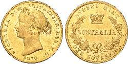 1 Sovereign Australia (1788 - 1939) Gold Victoria (1819 - 1901)