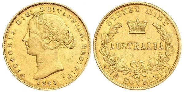 1 Sovereign Australia (1788 - 1939) Gold Victoria (1819 - 1901)