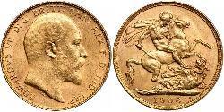 1 Sovereign Australien (1788 - 1939) Gold Eduard VII (1841-1910)