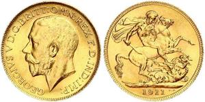 1 Sovereign Canada Gold George V of the United Kingdom (1865-1936)