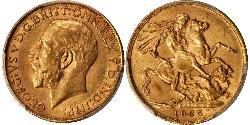 1 Sovereign South Africa Gold George V of the United Kingdom (1865-1936)