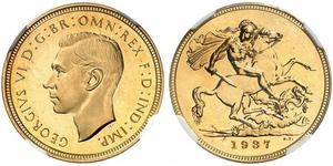 1 Sovereign United Kingdom (1922-) Gold George VI (1895-1952)