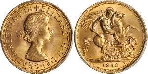 1 Sovereign United Kingdom (1922-) Gold Elizabeth II (1926-)