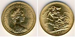 1 Sovereign Vereinigtes Königreich Gold Elizabeth II (1926-)