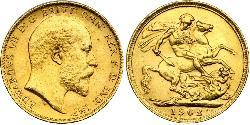 1 Sovereign Vereinigtes Königreich von Großbritannien und Irland (1801-1922) Gold Eduard VII (1841-1910)