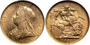 1 Sovereign Vereinigtes Königreich von Großbritannien und Irland (1801-1922) Gold Victoria (1819 - 1901)