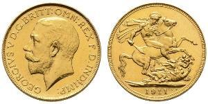 1 Sovereign Vereinigtes Königreich von Großbritannien und Irland (1801-1922) Gold George V (1865-1936)