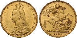 1 Sovereign Australia (1788 - 1939) Oro Victoria (1819 - 1901)