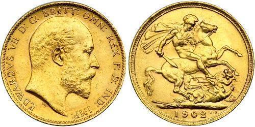 1 Sovereign Regno Unito di Gran Bretagna e Irlanda (1801-1922) Oro Edoardo VII (1841-1910)