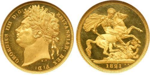1 Sovereign Reino Unido de Gran Bretaña e Irlanda (1801-1922) Oro Jorge IV (1762-1830)