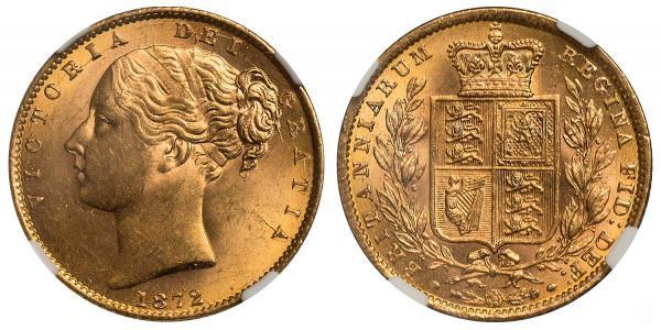 1 Sovereign Reino Unido de Gran Bretaña e Irlanda (1801-1922) Oro Victoria (1819 - 1901)