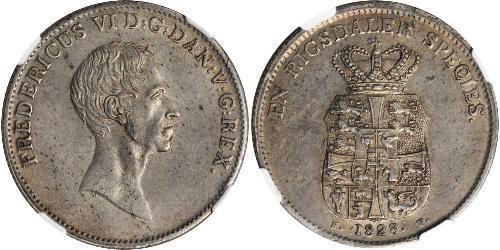 1 Speciedaler 丹麦 銀