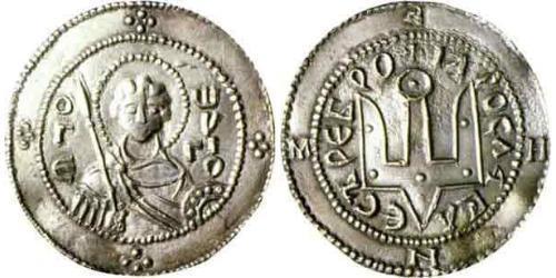 1 Srebrennik Kiewer Rus (862 - 1240) Silber Jaroslaw der Weise (978 - 1054)
