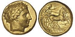 1 Stater 馬其頓王國 (808 BC - 168 BC) 金 Philip II of Macedon (382 BC - 336 BC)
