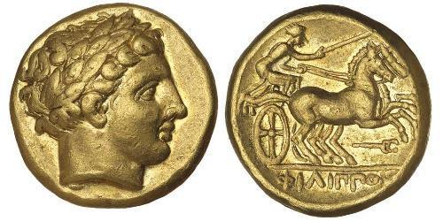 1 Stater 馬其頓王國 (808 BC - 168 BC) 金 Philip II of Macedon (382 BC - 336 BC)